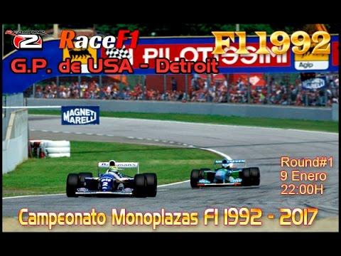 Rfactor2, F1 1992, Race 1 - Detroit