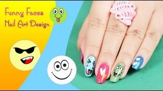 Download funny faces nail art videos dcyoutube funny faces nail art design series 2 do it yourself khoobsurati solutioingenieria Images
