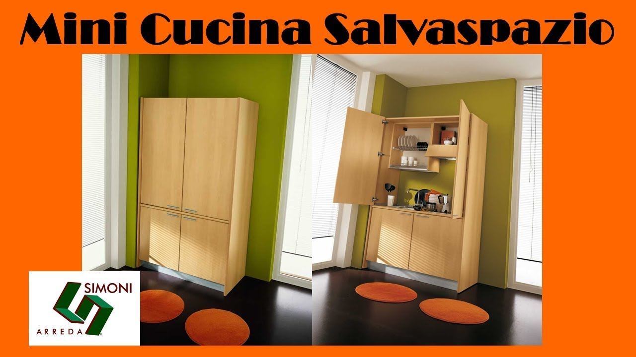 Mini cucina salvaspazio da 125 cm per arredare monolocali for Simoni arreda milano