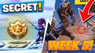 Fortnite: Season 4 WEEK 5 HIDDEN Battlestar Location! FREE Battle Pass Tier (Secret Blockbuster #5)