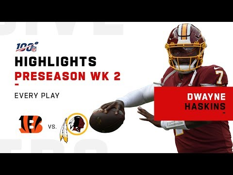 Every Dwayne Haskins Pass & Run vs. Bengals | NFL 2019 Highlights