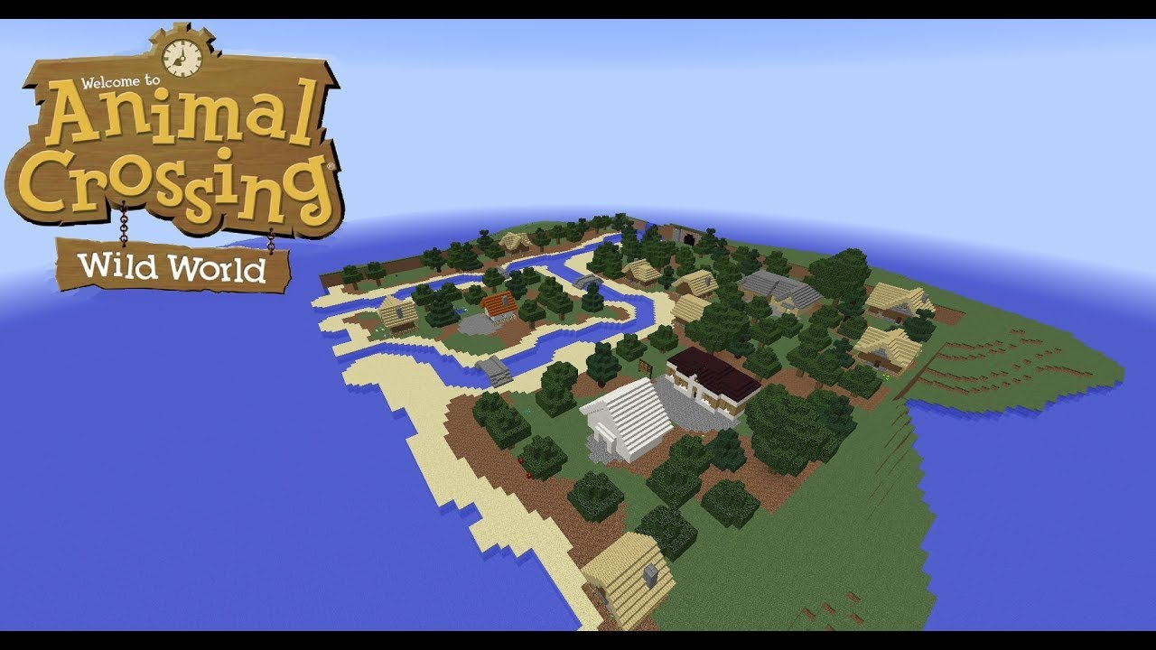 Minecraft Map Speedbuild   Animal Crossing: Wild World   YouTube