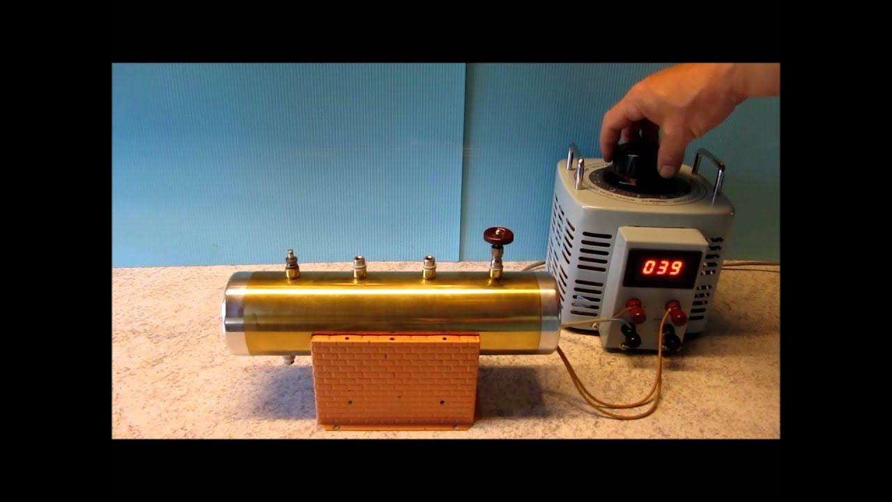 Homemade Electric Boiler for Steam Engines - First test - YouTube