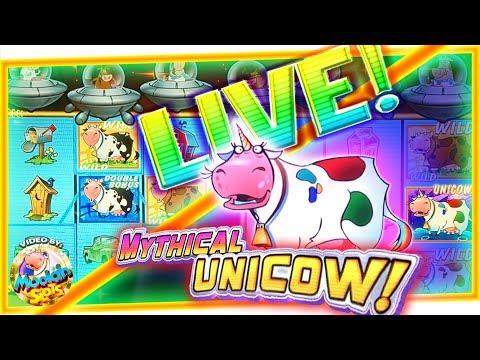 LIVE BONUS & UNICOW! Invaders Return From The Planet Moolah - 1c WMS SLOT