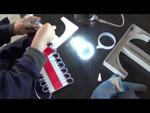 LED stainless steel advertising letter, CNC router, bending machine and laser welder