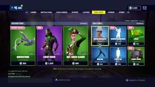 Fortnite Livestream GET AWAY IST BACK SGT GREEN CLOVER UND POT 'O GOLD kann heute Abend RETURN