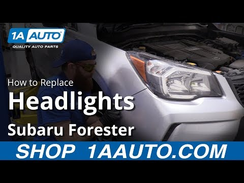 How to Replace Headlights 2014-16 Subaru Forester