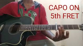 How to play 'JUST MAAT MATHALLI' tittle track on guitar (Kannada tutorial)