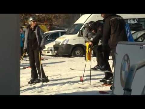 Madonna skiing in Gstaad, Switzerland