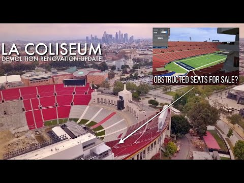 La Coliseum Renovation The Worst Obstructed Rams Seating Views You Can Buy Youtube