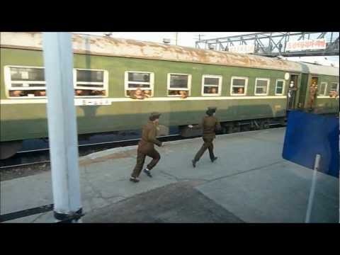 Inside North Korea by an American Tourist - Part 1 of 4 HD (TRAIN PORTION)