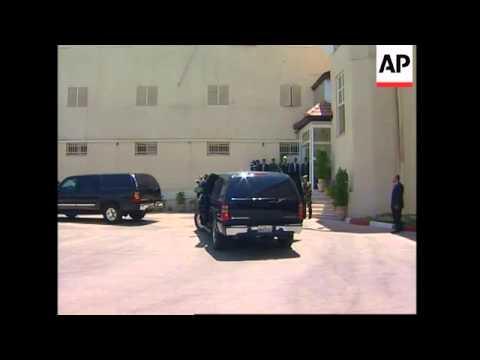 Barack Obama arrives in the West Bank