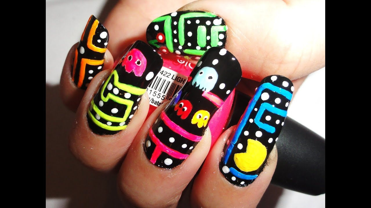 Pac man nails youtube pac man nails prinsesfo Image collections