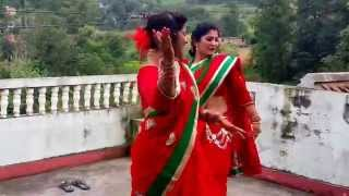Haritalika Teej Nepali Women's Biggest festival,Dancing in Traditional Nepalese Women costumes
