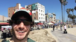 Overly Excited Tourist Loses His Mind At Venice Beach