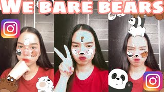 We Bare Bears | Instagram Filter Tutorial | Android and Ios | Isabelle Denise