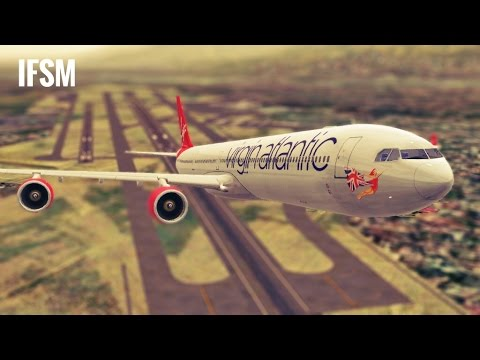 Infinite Flight Airbus A340 Virgin Atlantic livery - KLAX - KPSP