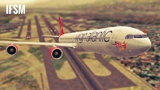 Infinite Flight Airbus A340 Virgin Atlantic livery - KLAX - KPSP