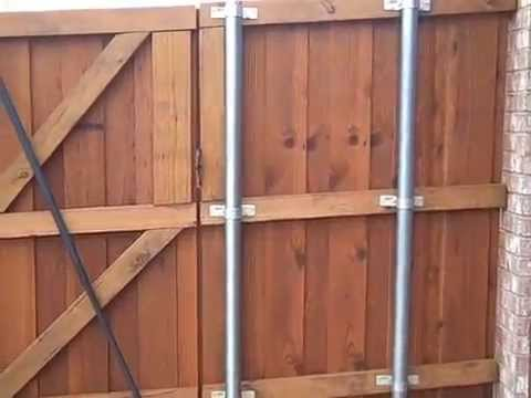 Pecan Fence Staining Youtube
