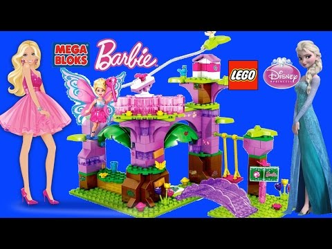 Mega Bloks Barbie Lego Disney Princess Playsets Girl's Brick Toys Compilation