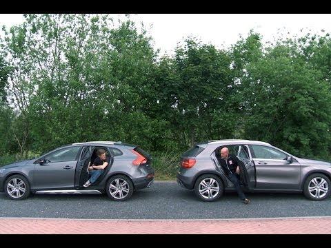 Mercedes GLA 200 vs. Volvo V40 CC T4 English subtitled