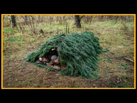 Fastshelter Debris Hut - Bushcraft Shelter Lagerbau Outdoor Survival