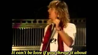 Def Leppard - Love Bites ( Live ) - with lyrics