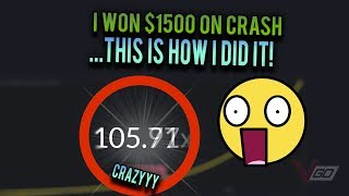 i won $1500 on crash... this is how i did it!