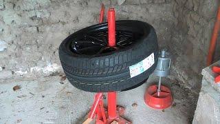 Монтування шини керівництво. Manual tire changer. Відео 2