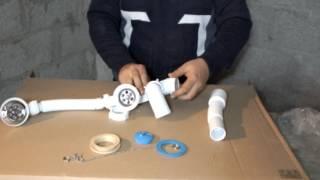 видео Установка сифона на ванну