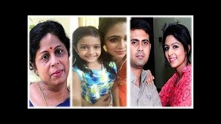 "Nandhini serial actress ""Malavika Wales"" with her family"