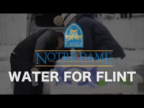 Watch as Notre Dame College reachs out to Flint, Michigan