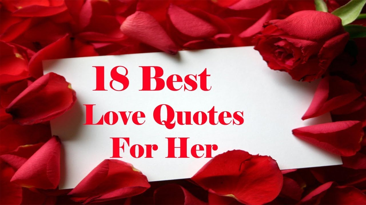 Greatest Love Quotes For Her Best Love For Her Quotes  Youtube