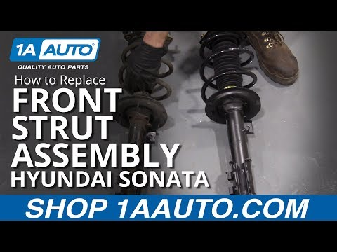 How to Replace Front Strut Assembly 11 Hyundai Sonata
