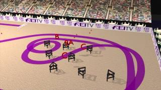 FEI World Cup Driving Final 2013, Bordeaux - Animated Course