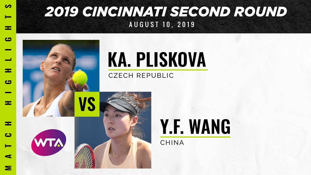 Karolina Pliskova vs. Wang Yafan | 2019 Western & Southern Open Second Round | WTA Highlights