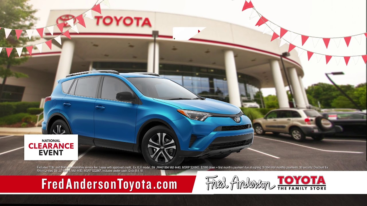 Fred Anderson Toyota   National Clearance Event   RAV4