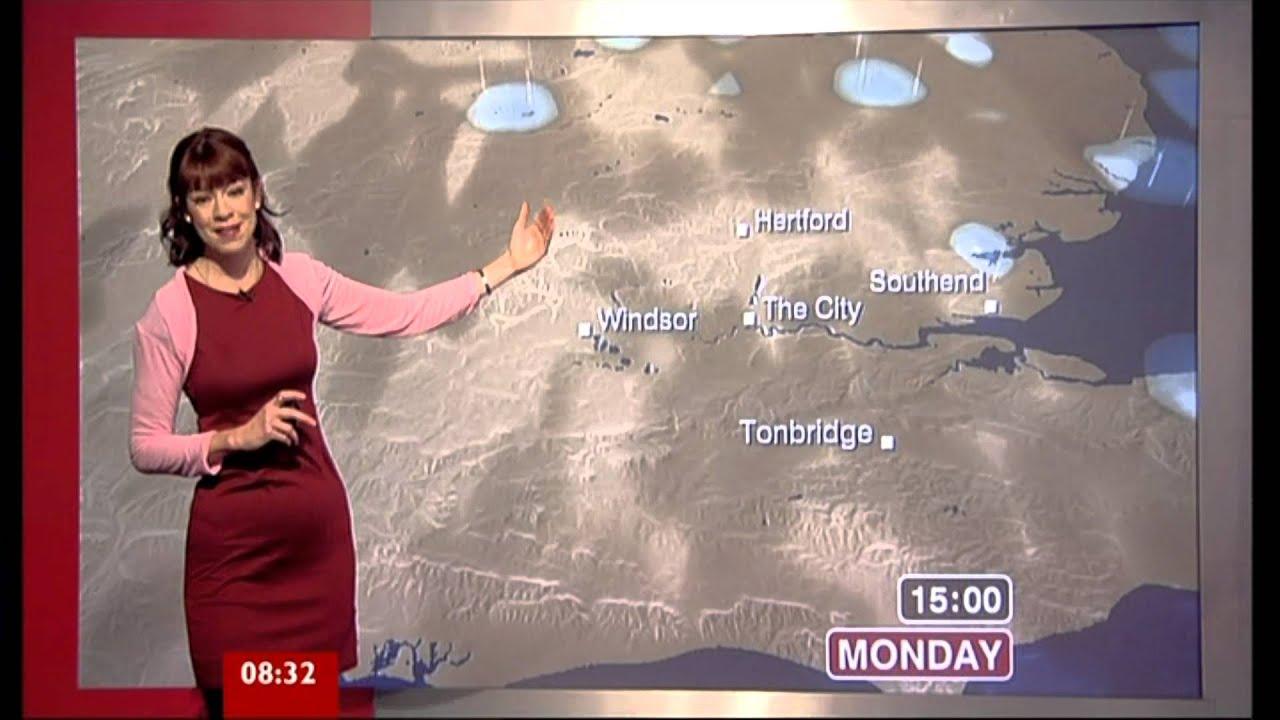 elizabeth rizzini  bbc london weather  10 dec  2012 pink bolero