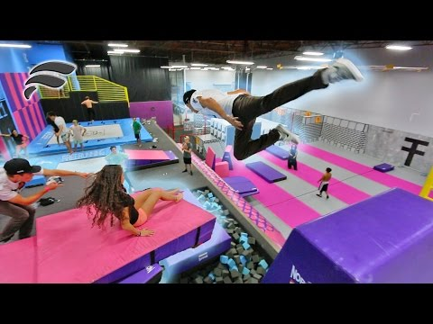 Thumbnail: TRAMPOLINE PARK SLIDE OBSTACLE COURSE (HARD MODE)