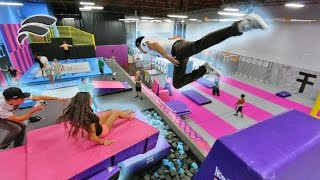 TRAMPOLINE PARK SLIDE OBSTACLE COURSE (HARD MODE)