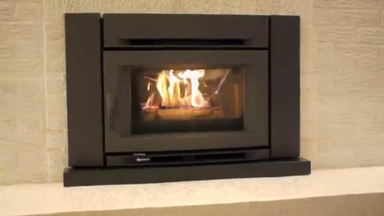 Regency wood fireplace insert Alterra CI1200 - YouTube