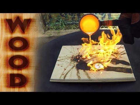 Molten Copper vs Wood