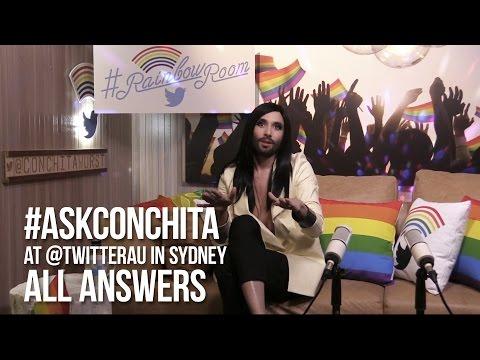 #AskConchita at Twitter Australia #RainbowRoom – all #ConchitaAnswers