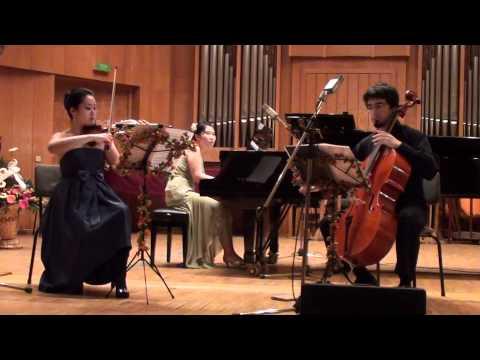 Mendelssohn: Piano Trio nº 1 (1° mov.) - JiYoung Cathie Lee - Davi Barreto - SeungHee Lee