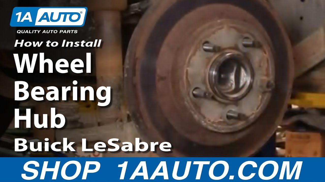 How To Install Replace Rear Wheel Bearing Hub Buick