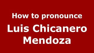 "How to pronounce Luis ""Chicanero"" Mendoza (Colombian Spanish/Colombia)  - PronounceNames.com"