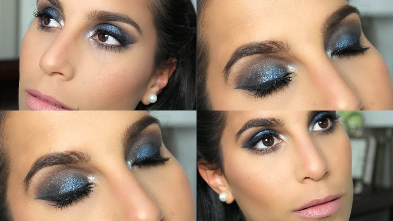 Get Ready With Me Blue Silver Eye Makeup Youtube