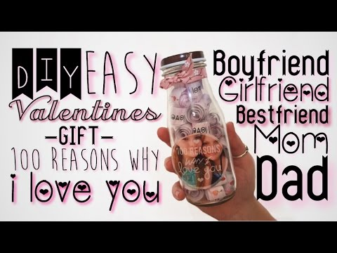 DIY: Valentines Gift 100 Reasons Why I Love You for Anyone!!