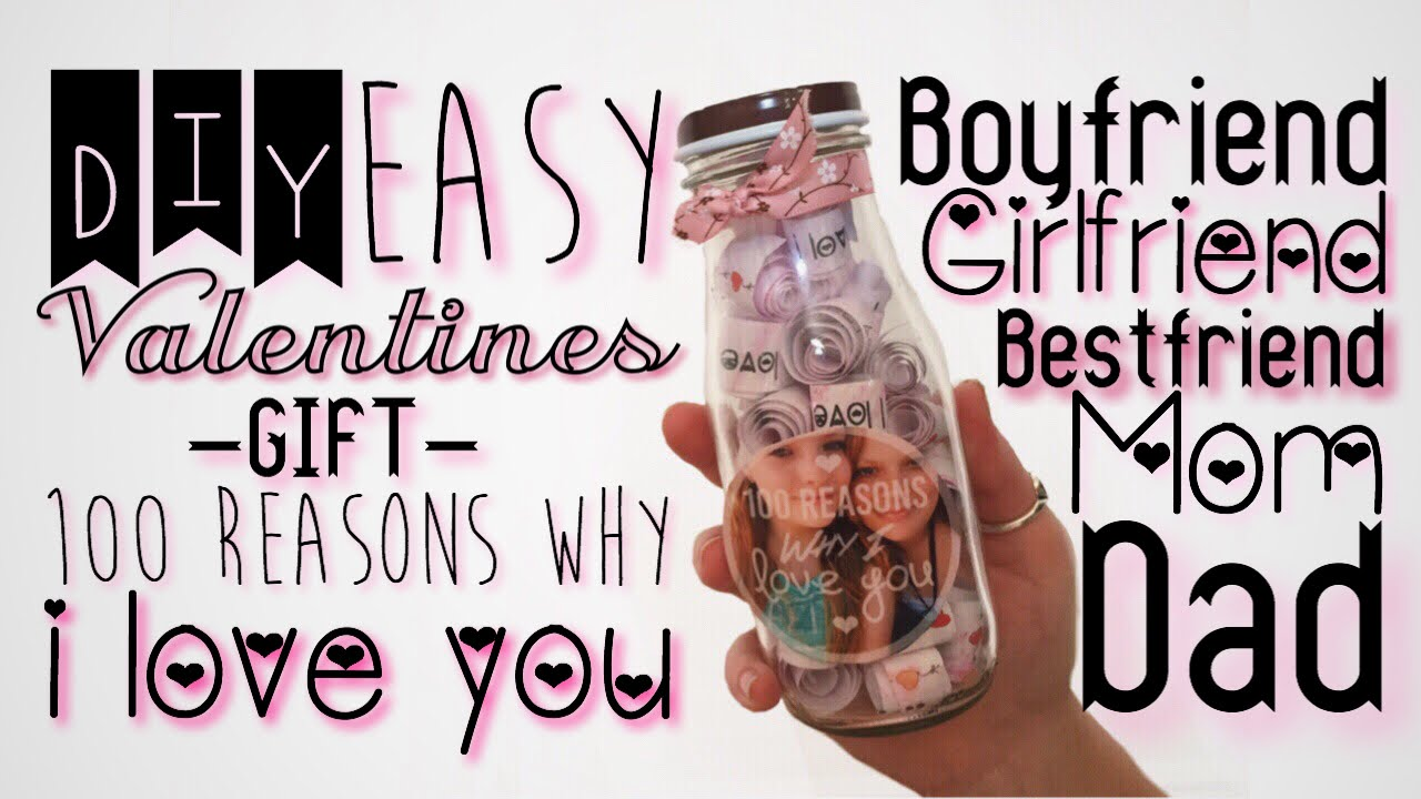 Diy valentines gift 100 reasons why i love you for anyone youtube negle Gallery