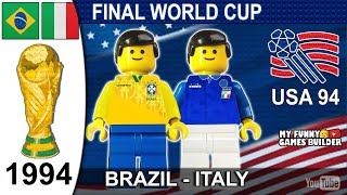 World Cup Final 1994 Brazil vs Italy 3 2 Penalty shootout Lego Football Italia Brasile USA 94